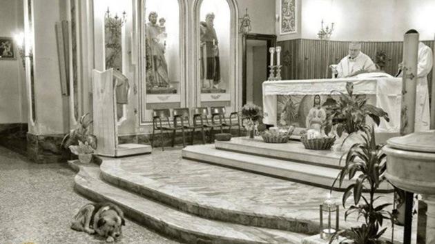 Tommy en la iglesia de San Donaci. // Foto: nacionarte.it